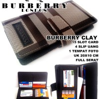 DOMPET BURBERRY WANITA CLAY KULIT KW FULL BLACK