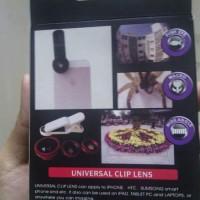 Universal Clip Lens 3 In 1 Untuk Handphone, Smarphone & Tablet