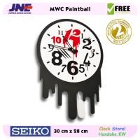 Jam dinding - MWC Paint Ball- JNE 1KG - Garansi Seiko 2 Tahun!