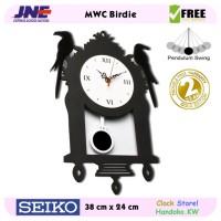 Jam dinding - MWC Birdie - JNE 1KG - Garansi Seiko 2 Tahun!