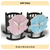 Jam Meja - MDC Baby Blue - JNE 1KG - Garansi Seiko 2 Tahun!