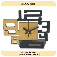 Jam Meja - MDC Classic Silver - JNE 1KG - Garansi Seiko 2 Tahun!