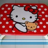Meja Belajar anak hello kitty red