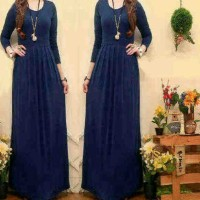 MAXI DRESS BASIC NAVY MURAH / MAXY DRESS HIJABERS