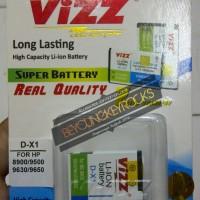 Baterai / Battery Double Power Vizz DX-1/DX1 2800mAh (Untuk Blackberry Javelin, Tour, Essex, Storm 1, Odin)
