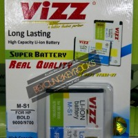 Baterai / Battery Double Power Vizz M-S1/MS1 3000mAh (Untuk Blackberry Onyx 1,Onyx 2,Bold)