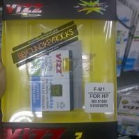 Baterai / Battery Double Power Vizz F-M1/FM1 2200mAh (Untuk Blackberry Pearl 9100 / 9105 / Style 9670)