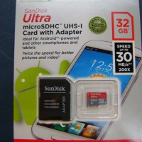 Micro SD - Sandisk - 32GB Ultra Class 10 80mbps