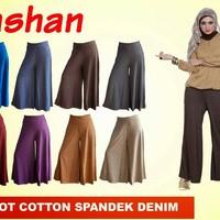Kulot Payung Cotton Spandek Denim Sz M, L, XL