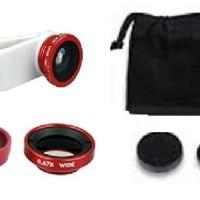 Jual Lensa Fish Eye For Handphone + Wide and Macro Lens ( 3 Pilihan Varian) Murah