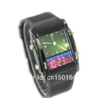 Jam Tangan LED dual time digital (Dalam Satu Jam) Dual Time Digital (water resist 5 m)