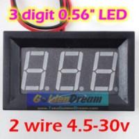 Jual Voltmeter Digital Lengkap Frame 4.5-30V DC Dua Kabel Akurasi Hingga 0.01V Pengukur Tegangan Dengan Bingkai 3 Digit LED 0.56in Murah