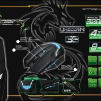 DRAGON WAR ELE-G8 UNICORN BLUE-SENSOR GAMING MOUSE