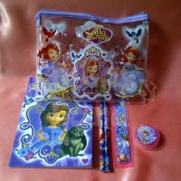 Stationery Study Set ATK Alat Tulis Belajar Karakter Motif Kartun Cartoon Lucu Cute Princess Sofia The First Putri Sophia Disney