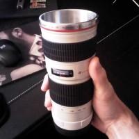 MUG CUP GELAS LENSA TELE CANON EF 70-200mm F2.8 IS WARNA PUTIH MURAH