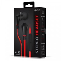Earphpne Headset Noisehush NX80 Red Precise Bass Original