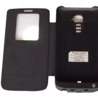 Battery Case Power Case LG G2 Flip Black 3800 mah