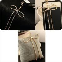 harga Ribbon Swarovski ( Jewelry Pluggy / Earplug / Dustplug / Gantungan Handphone Gadget ) Tokopedia.com