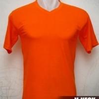 Kaos Polos Vneck Combed 20s Warna Orange