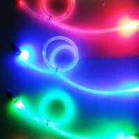 LIGHTING USB CABLE , FOSFOR MENYALA DALAM GELAP Panjang 0.5m