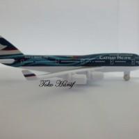 Diecast Miniatur Replika Pesawat Cathay Pasific - Boeing B747