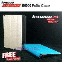 Flipcover Lenovo YOGA Tablet 8 B6000 : Folio Case LOGO ( + FREE SP)