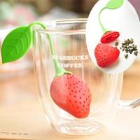 Alat Penyeduh Teh / Rempah-Rempah / Ramuan Obat Berbentuk Strawberry / Stroberi