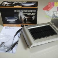 Lampu Tenaga Surya / Matahari - Solar Lamp 16 Led Sensor Cahaya dan Gerak