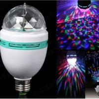 Lampu Led Disco Rotating - Full Color Rotating Lamp - Led 3w