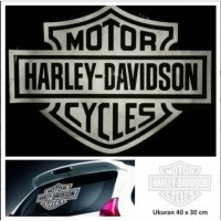 Cutting Sticker Harley Davidson u/ Kaca Belakang
