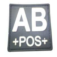 Blood Type AB Positif Patch Black