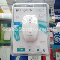 Logitech M557 White Pearl Wireless Bluetooth for PC Windows Mac Gadget Tablet Samsung Galaxy Tab Asus iPad Advan Macbook Pro