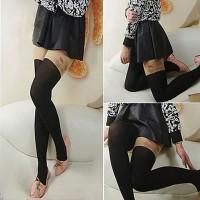 Stocking Jepang Korean personality fashion tattoo pattern design pantyhose sockings (Sheep)