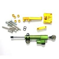 STEERING DAMPER SCT CNC NINJA-250 GREEN