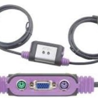 KVM Switches - ATEN - 1 Console (ps/2) 2 PCs (PS/2) with audio, built in cable	CS62A or CS62AZ