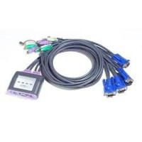 KVM Switches - ATEN - 1 Console (ps/2) 4 PCs (PS/2) with audio, built in cable	CS64A or CS64AZ