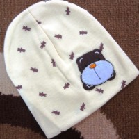 BH-CC Cute Bear Animal Cotton Head - Topi Bayi Cream Choco