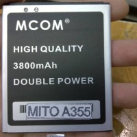 Baterai/Battery Mito A355 (A355-065) 3800 mAh Double Power
