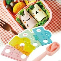 Bear Beruang Rabbit Bunny Kelinci Mold Cetakan Pencetak Cetak Nasi Rice Sushi Bento Set Tools Arnest Nori Seaweed Cutter Puncher