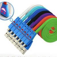 KABEL DATA LED / KABEL DATA MICRO USB SMILE LED WARNA WARNI