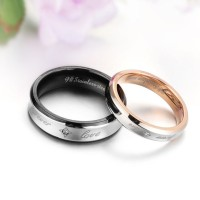Cincin Couple - Forever Rosegold and Black Ring
