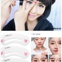 CETAK ALIS MINI GAMBAR DRAW / cetakan alis merk eye guid drawing /pola cetak eye brow mata / muka wajah face / eyebrow style