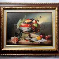 Lukisan Repro Print On Canvas - Buah-buahan