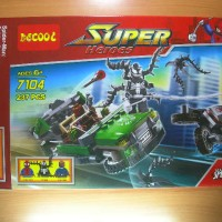 lego decool 7104 Spider Cycle Chase