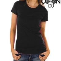 Kaos Polos Ladies Fit Premium Cotton T-Shirt 140 [Black]