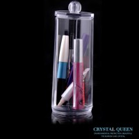 Round Acrylic Crystal Queen Brush Holder SF 297