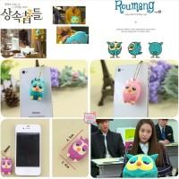 harga Roumang The Heirs Dustplug- Owl - Pluggy - Gantungan Handphone Tokopedia.com
