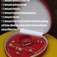 Kotak Love JUMBO untuk menyimpan4 Perhiasan Emas Cincin Kalung Gelang Anting ALL in ONE