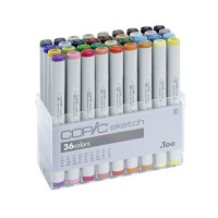 COPIC Sketch 36 pcs Basic Colors Set