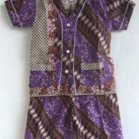 Baju Tidur / Piyama Anak Batik Pendek Size L